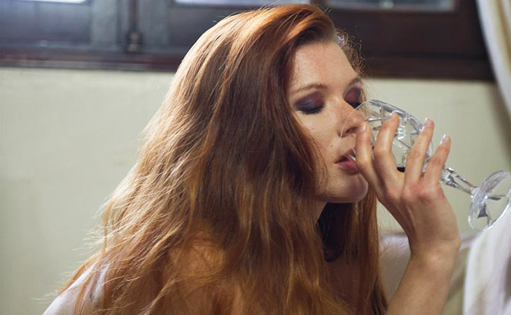 Mia Sollis Takes off her Lace Lingerie