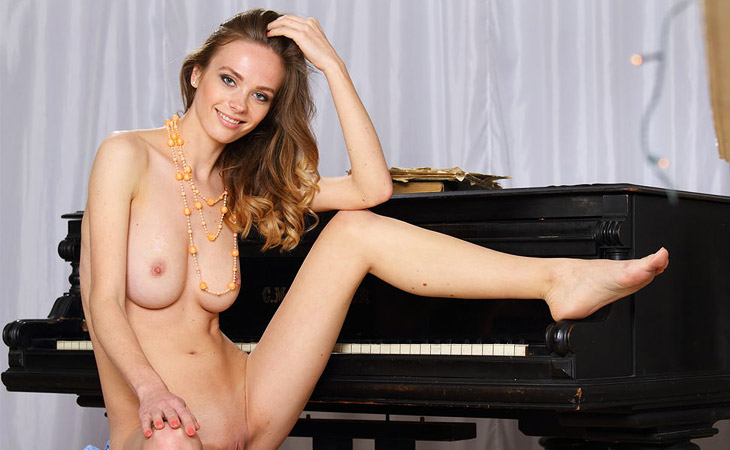 Irene Strips Naked by the Piano